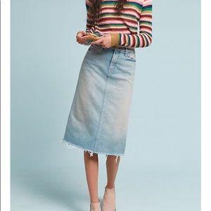 Mother Frayed Denim Skirt